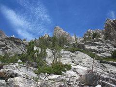 Rock Climbing Photo: Taminah Arete, halfway from the lake.