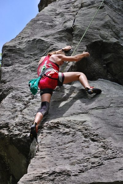 Rock Climbing Photo: near the finish