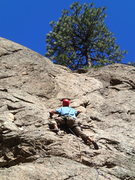 Rock Climbing Photo: Nacho enjoying the positive holds on the middle se...