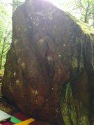 Rock Climbing Photo: Standard Overhang (v3) - Good shot of the holds ni...