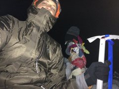 Rock Climbing Photo: Mount Adams solo night hike at the summit 0145