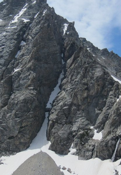 Rock Climbing Photo: Northwest Couloir of Mount Wister