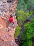 Rock Climbing Photo: Hagen the FA of HDMBEFE feat David Hasselhoff