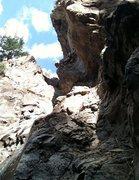 Rock Climbing Photo: Honestly kinda just flailing. Sweet tube though.