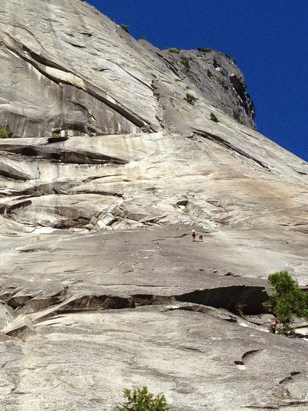 Rock Climbing Photo: My Buddy David and I rapping off of the Grack (Yos...