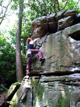 Rock Climbing Photo: Bess on the FA