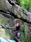 Rock Climbing Photo: Bess at the start