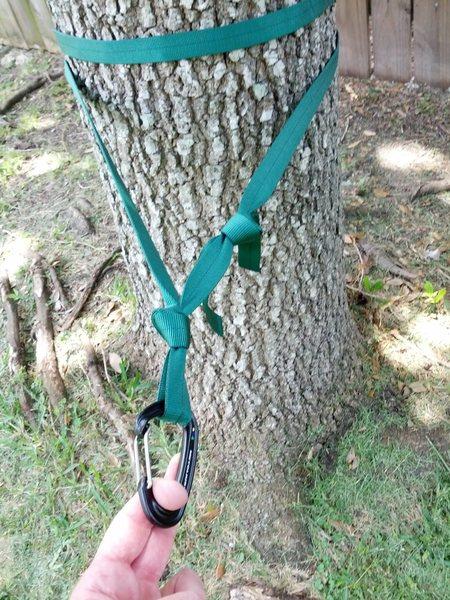 Webbing tree anchor