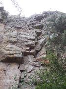 Rock Climbing Photo: Upper portion, 5.8 Y'er Ass