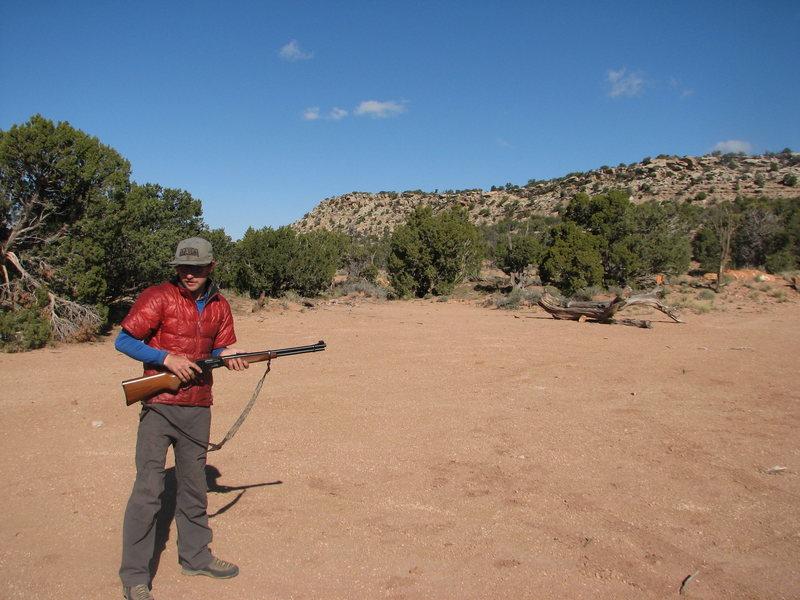 Rock Climbing Photo: shooting guns