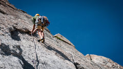 Rock Climbing Photo: We started up this flake to the left of another ob...