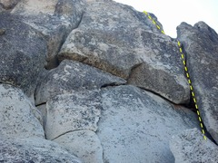 Rock Climbing Photo: Follow the crack on the right.