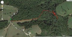 Rock Climbing Photo: Trail directions from the road to the Mariba Fork ...