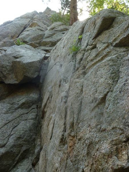 "Rock Climbing Photo: The route showing the ""lonely"" bolt."