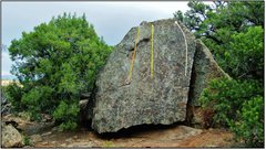 Rock Climbing Photo: Bug Lift problem beta in white.
