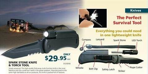 multi-funtion survival knife, with fire starter, led light,whistle function, best choose for ourdoor activity,