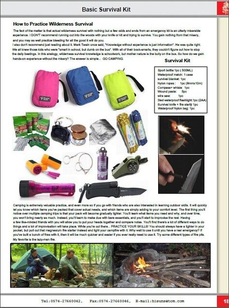 multi-funtion survival knife, survival kit
