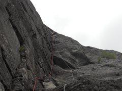 Rock Climbing Photo: Un grimpeur inconnu dans la 2e longueur.