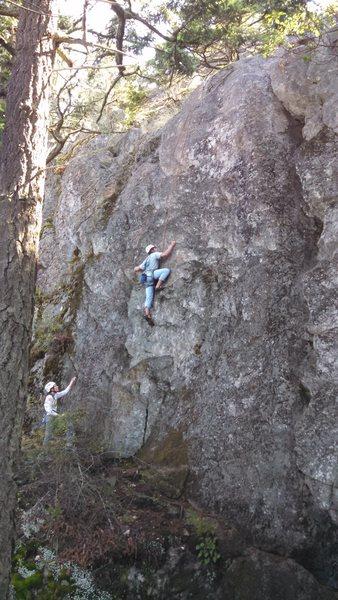 Rock Climbing Photo: Nick rocking his first 5.9+ up Hanky Panky