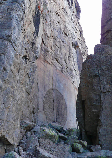 Rock Climbing Photo: The Lost Portal in Pangea. Kinda creepy... The mir...