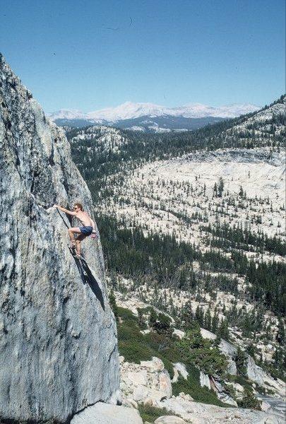"Rock Climbing Photo: Greg Murphy soloing the FA of ""Lock, Stock, a..."