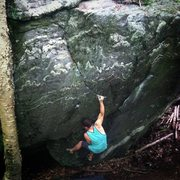 Rock Climbing Photo: First move on this fun line