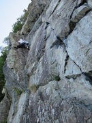 Rock Climbing Photo: Andy Ross on P1