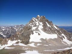 Rock Climbing Photo: Middle Teton via southwest couloir. July 2014