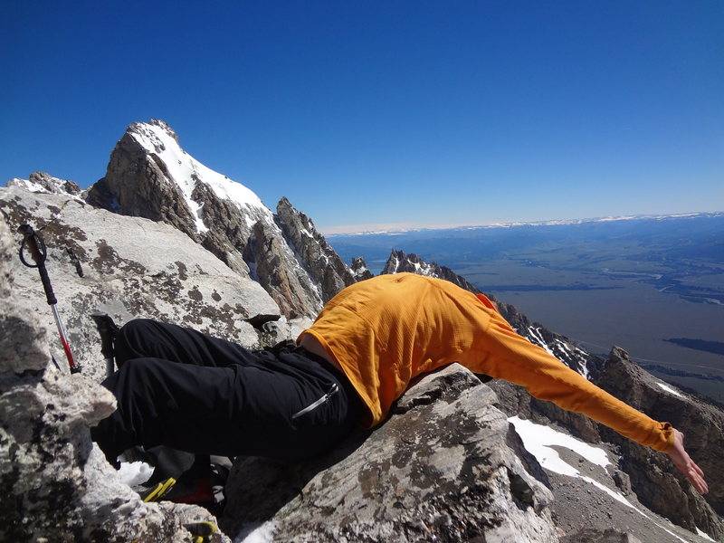 Middle Teton via southwest couloir. July 2014