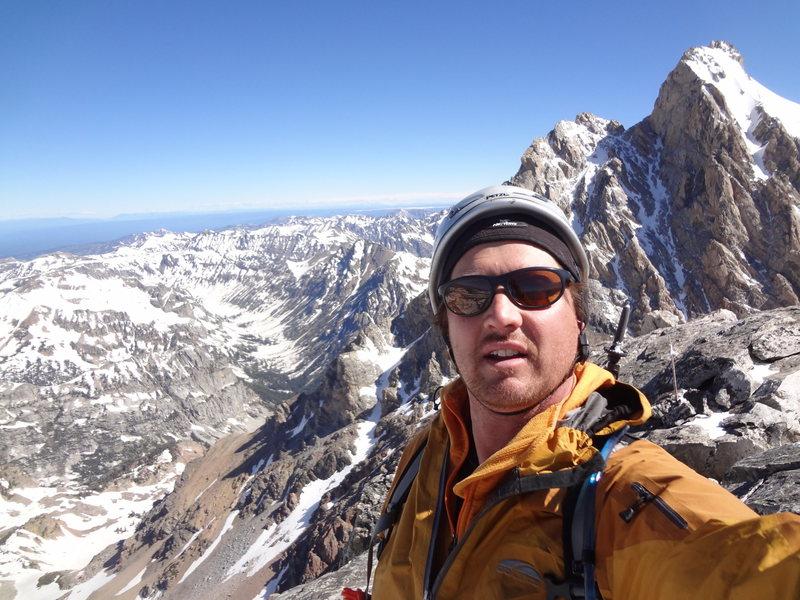 Rock Climbing Photo: South Teton solo July 2014