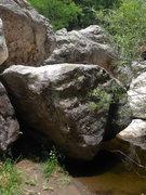 Rock Climbing Photo: Very lowball warm-up problem below Joe's
