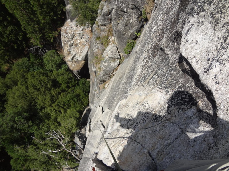 Rope solo of Bishops Terrace Yosemite Valley. July 2014.
