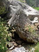 Rock Climbing Photo: Another very lowball warm-up problem below Joe's
