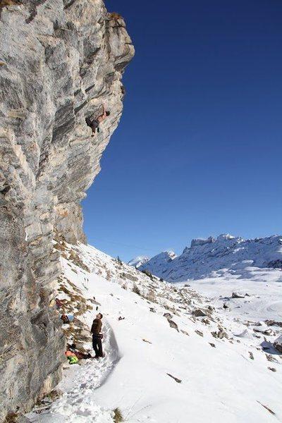 Rock Climbing Photo: Eiger Live crux