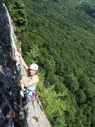 Rock Climbing Photo: Kristin Knudson finishes up Wrist.