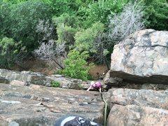 Rock Climbing Photo: Kristin Knudson strolls [up] Main Street.