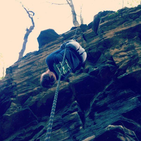 Rock Climbing Photo: my brother