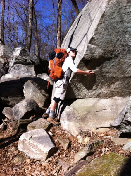 It's not just a boulder.. its a rock.