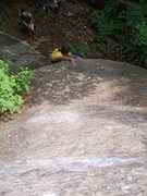 Rock Climbing Photo: The starting bulge on Effigy