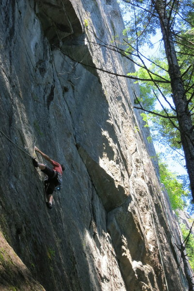 Rock Climbing Photo: Jon Nelson cruising right along.