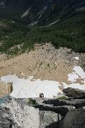 Rock Climbing Photo: Jon Nelson polishing off pitch 1.