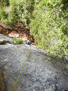 "Rock Climbing Photo: Mark following on the upper section of ""Le Gr..."