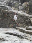 Rock Climbing Photo: Paul reaching the jug at the lip.
