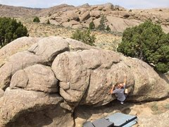 Rock Climbing Photo: Ray Weber somewhere in Wyoming!!!