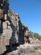 Rock Climbing Photo: Climbing school on In the Groove. Note possible wa...