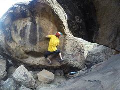 Rock Climbing Photo: Pulling up after that glorious, underclinging jug.