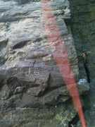 Rock Climbing Photo: Left side of chimney