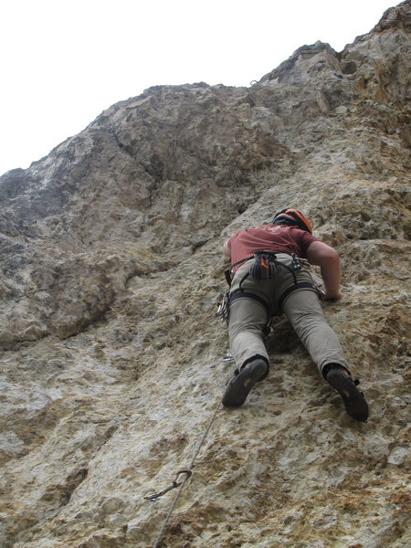 Rock Climbing Photo: Nearing the top of Nest Egg