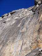 Rock Climbing Photo: Signature pitches two and three of the route, foll...