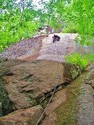 Rock Climbing Photo: Jon on the FA